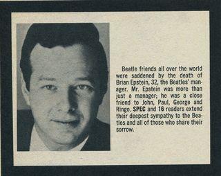 Brian Epstein Spec Fall 67