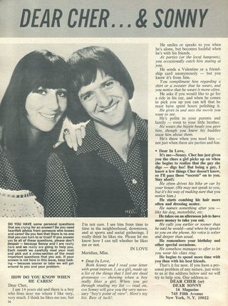 Dear Cher Dear Sonny Sept. 68