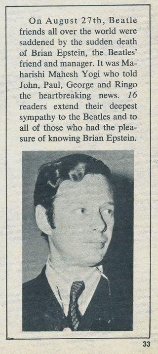 Brian Epstein 16-Dec 67