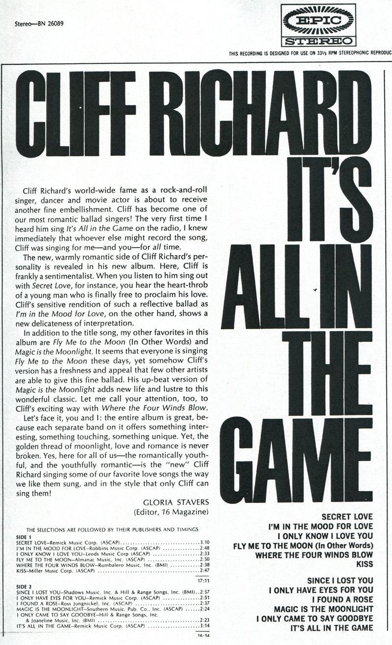 GS liner notes Cliff R