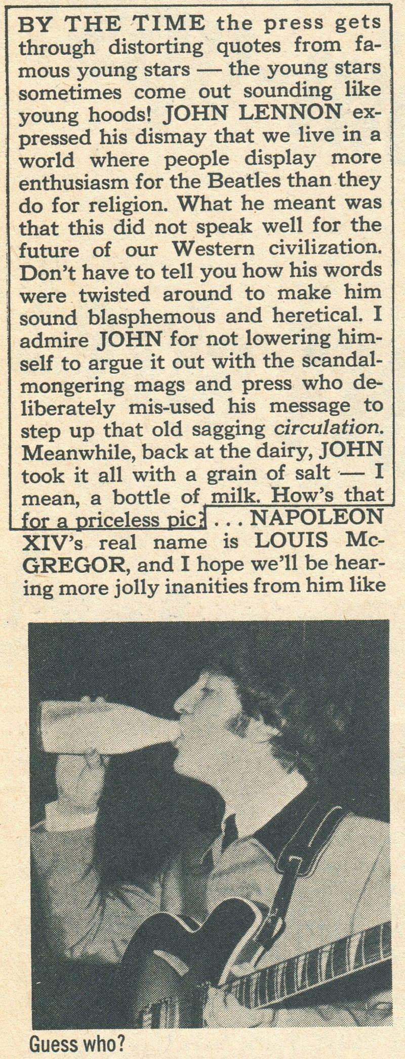 Lennon controv Nov 66