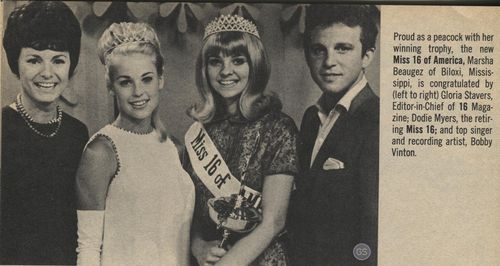 Bobby Vinton and Miss 16 winners